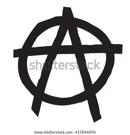 Anarchy Symbol Drawing Stock Vector Royalty Free 415846096