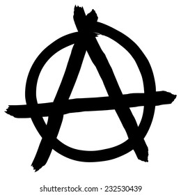Anarchy symbol isolated on white background, vector illustration