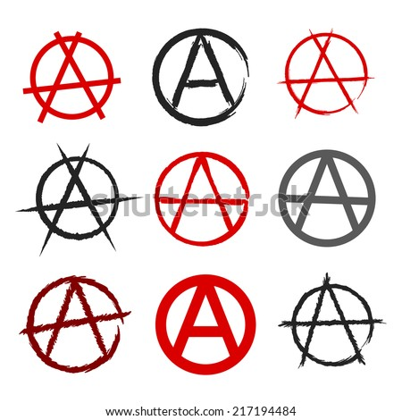 Anarchy Symbol Set Stock Vector Royalty Free 217194484 Shutterstock