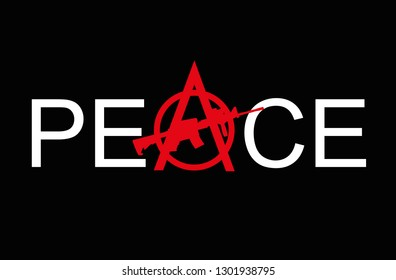 Anarchy symbol with typography slogan.Anarchism symbol for t shirt printng design, t shirt graphics, tee print design.