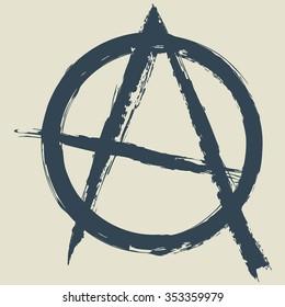 anarchy symbol.vector illustration.