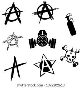 Anarchy vector illustration, Chaos, Revolution