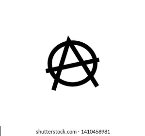 Anarchy vector isolated illustration. Anarchy icon