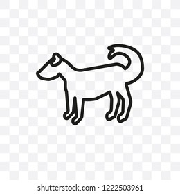 Anatolian Shepherd Dog dog vector linear icon isolated on transparent background, Anatolian Shepherd Dog dog transparency concept can be used for web and mobile