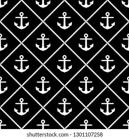 Anchor background. Seamless pattern.Vector.