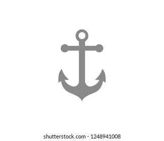 Anchor Flat icon symbol Vector