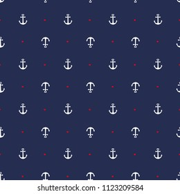 anchor heart blue background