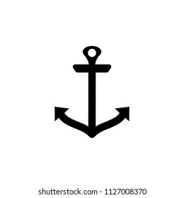 anchor icon. Element of tattoo icon for mobile concept and web apps. Glyph style anchor icon can be used for web and mobile on gray background