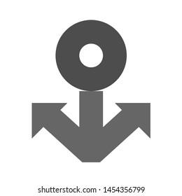 anchor icon. flat illustration of anchor. vector icon. anchor sign symbol