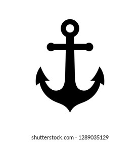 Anchor icon isolated on white background