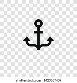 anchor icon from miscellaneous collection for mobile concept and web apps icon. Transparent outline, thin line anchor icon for website design and mobile, app development