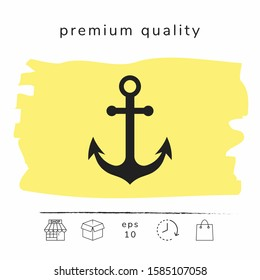 Anchor icon symbol. Graphic elements for your design