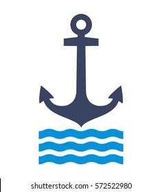 Anchor icon, vector illustration
