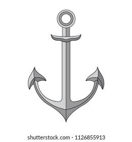Anchor icon, vector image