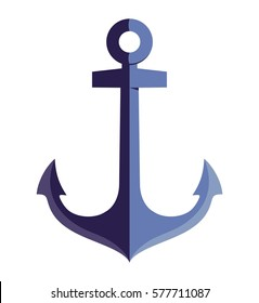 anchor icon, vector image
