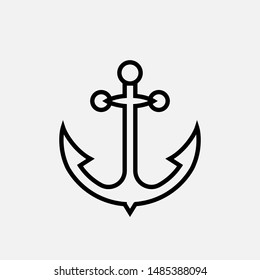 Anchor Icon - Vector, Sign and Symbol for Design, Presentation, Website or Apps Elements.