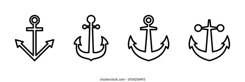Anchor icon vector. Anchor symbol logo. Anchor marine icon.