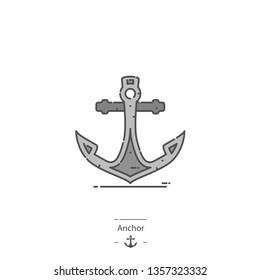 Anchor - Line color icon