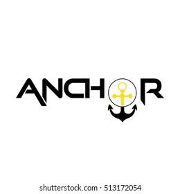 anchor logo lettering