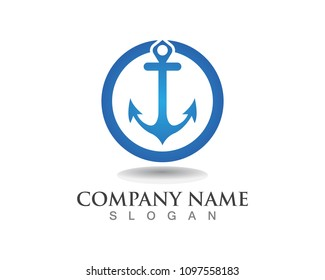 Anchor logo images stock photos vectors shutterstock anchor logo and symbol template icons thecheapjerseys Images