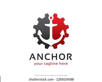 Anchor Logo Template Design Vector, Emblem, Concept Design, Creative Symbol, Icon
