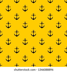 Anchor pattern seamless vector repeat geometric yellow for any design