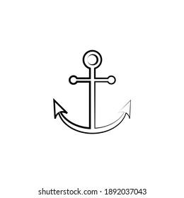 anchor simple illustration clip art vector
