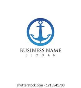 anchor symbol logo vector image
