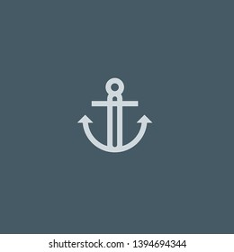 Anchor vector icon. Anchor concept stroke symbol design. Thin graphic elements vector illustration, outline pattern for your web site design, logo, UI. EPS 10.