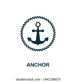 Anchor vector icon illustration. Creative sign from icons collection. Filled flat Anchor icon for computer and mobile. Symbol, logo vector graphics.