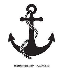 Anchor vector icon logo Nautical maritime sea ocean boat illustration symbol
