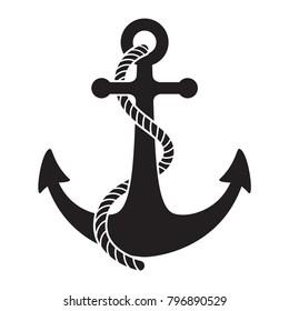 Anker-Vektorsymbol: Symbol für nautische Seeschifffahrt