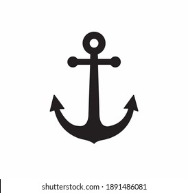 Anchor vector icon on a white background