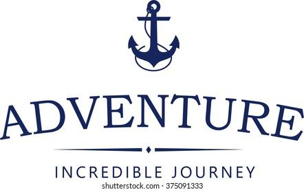 Anchor vector logo. Adventure