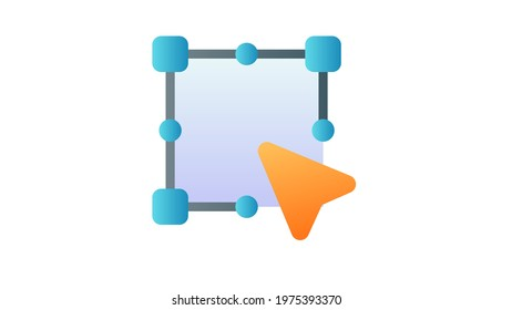 anchor vector pointer single isolated icon with smooth style