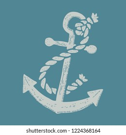 anchor vintage style icon