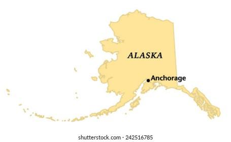 Anchorage Alaska Area Map Stock Vector (Royalty Free) 138843728 ...