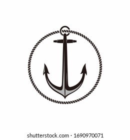 anchors and mines icons symbols for nautical marine logo design