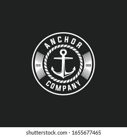 anchors in vintage style. Vector illustration