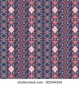 Ancient american indian pattern. Vector seamless texture