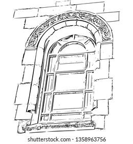 Ancient architecture, window (vector)