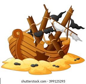 Ancient broken ship