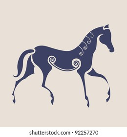 Ancient Celtic symbol of horse.