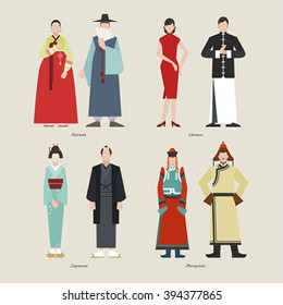 Ancient Clothing korean chinese japanese mongolian