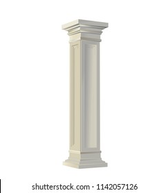 Ancient column vector illustration isolated on white background
