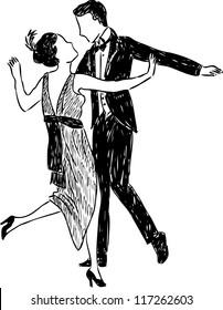 ancient dancing couple