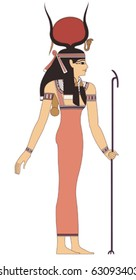 ancient egypt art/vector without gradient/