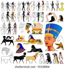 ancient Egypt - Gods, Goddess, demons, queen