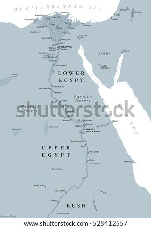 Tanis Egypt Map.Ancient Egypt Map Important Sights Sinai Stock Vector Royalty Free