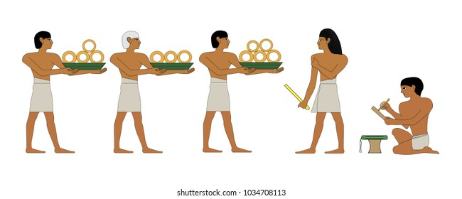 Ancient Egypt treasurer and scribe